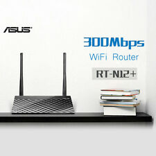 ASUS RT-N12+  WiFi Router BLACK 300Mbps with 4 LAN / 1 WAN