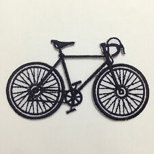 Black bicycle/road bike/Embroidered Iron on Patch/free shipping