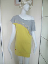 HENLEYS DELUXE PROJECT -YELLOW UNLINEDT-SHIRT DRESS/ TOP  SIZE 2 - COTTON BLEND