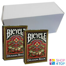 BICYCLE GOLD DRAGON BACK 12 DECKS ORIENTAL DESIGN PLAYING CARDS BOX CASE NEW