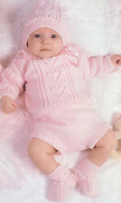 Knitting pattern- Gorgeous Baby Girl - Hearts-sweater-hat-pants-boots fits 6-18m