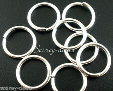 20 x Very Strong 18mm SILVER PLATED Open Jump Rings Jumpring 1ST CLASS POST
