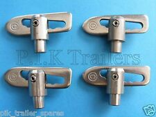 4 x Stainless Steel 12mm Weld on Anti Luce Drop Catch Trailer Fastener   #TR