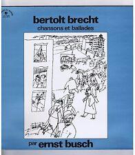 LP ERNST BUSCH BERTOLT BRECHT CHANSONS ET BALLADES