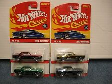 Hot Wheels Classics Series 2 #6/30 1965 Mustang 4 Different Color Variation's