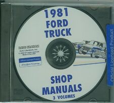 1981 FORD TRUCK SHOP  REPAIR MANUAL ON CD-ALL MODELS