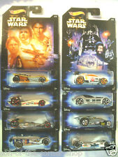 FULL SET OF 8 HOT WHEELS STAR WARS INSPIRED CARS EPISODES 1-6/CLONE WARS/REBELS