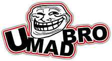"You Mad Bro Internet Troll Face Trolling Car Bumper Vinyl Sticker Decal 6""X3"""