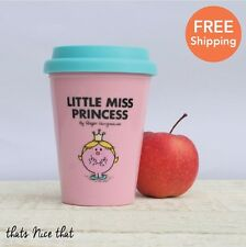 Little Miss Princess Travel Mug Thermal Fun Gift Drink Tea Coffee Cup Mug Pink