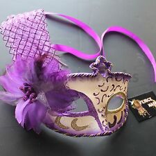 Floral PVC Venetian Masquerade Mask, 8+ Colors to pick, for party & display