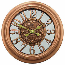 """22"""" Antique Motif Gallery Large Rustic Wall Clocks with Copper Color Finished"""