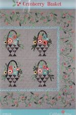 Cranberry Basket - traditional style applique & pieced quilt PATTERN
