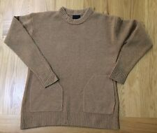 J CREW 100% Cashmere Round neck Jumper with pockets Size Small £295
