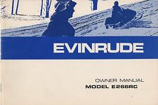 1974 EVINRUDE SNOWMOBILE E266RC OWNERS MANUAL P/N 263906 (761)