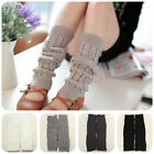 Women Winter Warm High Knee Knit Crochet Knitted Leg Warmers Legging Boot Socks