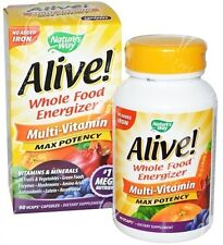 Vivo naturales Whole Food Energizer Con Super Verdes Alfalfa + Espirulina x90vcap