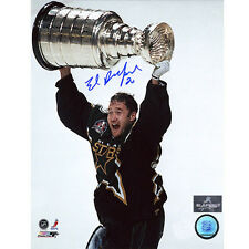Ed Belfour Dallas Stars Signed 8x10 Stanley Cup Photo