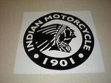 """Indian Motorcycle, Large Round Logo, Vinyl Decal Sticker - 21"""" Diameter"""