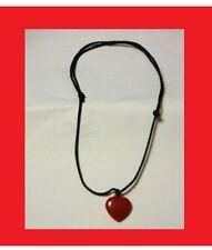 COLLANA CUORE IN PLASTICA RED HEART BLACK NECKLACE