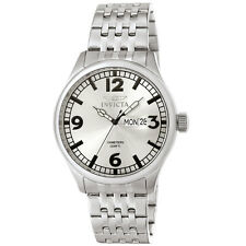 Invicta 0370 Mens Specialty Military Silver Dial Stainless Steel Watch