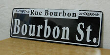 "New Orleans - Bourbon Street Street Sign  New   5"" x  15""  "" Rue Bourbon """