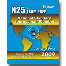 N25 National Standard Journeyman Plumber Practice Questions Workbook ICC Exam
