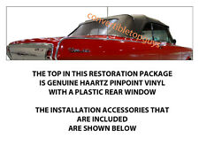 CHEVROLET CHEVY II & NOVA CONVERTIBLE TOP DO IT YOURSELF PACKAGE 1962-1963
