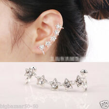Korean fashion exquisite five-pointed star-type non-pierced ear clip earrings