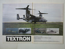 9/1989 PUB TEXTRON US MARINES CORPS M1 ABRAMS TANK LCAC-5 V-22 OSPREY BELL AD