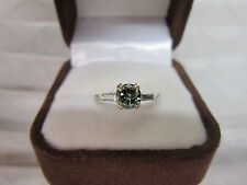 STUNNING ESTATE PLATINUM .89 CTW FANCY GREEN DIAMOND RING !!!!!!!
