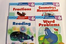 KUMON Workbooks Grade 6 Set: Math + Reading  (4 books) --FREE Expedited Shipping