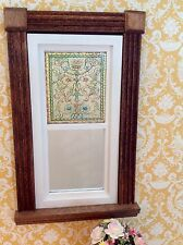 Scroll Motif Dollhouse Miniature Victorian Stained Glass Window film