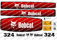 Bobcat 324 Mini Escavatrice Adesivo Decalcomania Completo Set