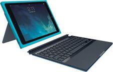 Logitech BLOK Teal / Blue Protective Wireless UK Keyboard Case Cover iPad Air 2