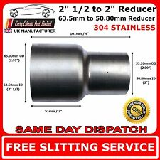 "2.5"" to 2"" Stainless Steel Flared Exhaust Reducer Connector Pipe Tube"