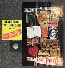 SEX PISTOLS NEVER MIND THE BOLLOCKS SPOTS 001 A3/B1 LP + NEAR MINT POSTER + 7""