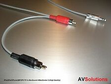 iPod/iPad/iPhone/MP3/PC/TV to BeoSound 4/BeoCenter 2, RCA Plugs (11 Mtrs,HQ)