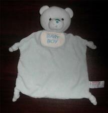 Aurora Baby Boy blue Bear Security Blanket Lovey