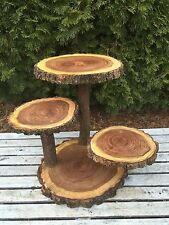 Large Log Elm Wood Rustic cake 60 Cupcake Collapsible Stand wild things are
