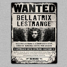 Metal bellatrix lestrange voulait signe/plaque A5 taille uk made harry potter