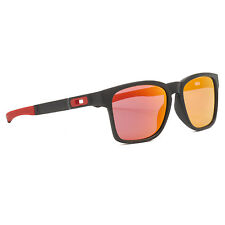 Oakley Scuderia Ferrari Catalyst Sunglasses OO9272-07 Matte Black / Ruby Iridium