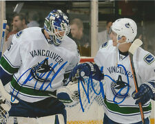 Vancouver Canucks Jacob Markstrom Alex Burrows Signed Autographed 8x10 Photo COA