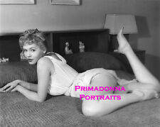 JUDY BAMBER 8X10 Lab Photo B&W '50s SEXY BEDROOM POSE Risque Grace Portrait