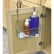 NEW Kitchen Bathroom Pantry Cabinet-Door Chemical Organizer Wire-Bin Rack Holder