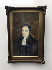Antique Scottish Georgian Rev Miniature Portrait Painting Thomas Dimma