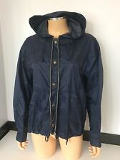 Valentino Ladies Nylon Jacket, Coat, Eu42, Uk 10-12, Navy Blue, Rain, Immaculate