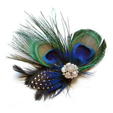 Cute Peacock Feather Hair Clip LW