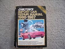 Chilton's Import Car Repair Manual 1980-1987 Part No 7672 Collector's Edition
