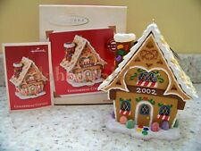 Hallmark 2002 Gingerbread Cottage Magic Light Christmas Ornament