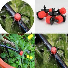 100 Stk Micro-Drip Tropfer Regulierbar Endtropfer Garten Bewässerung Neu